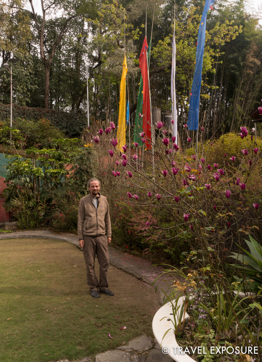 In the gardens at Pemla's house in Gangtok
