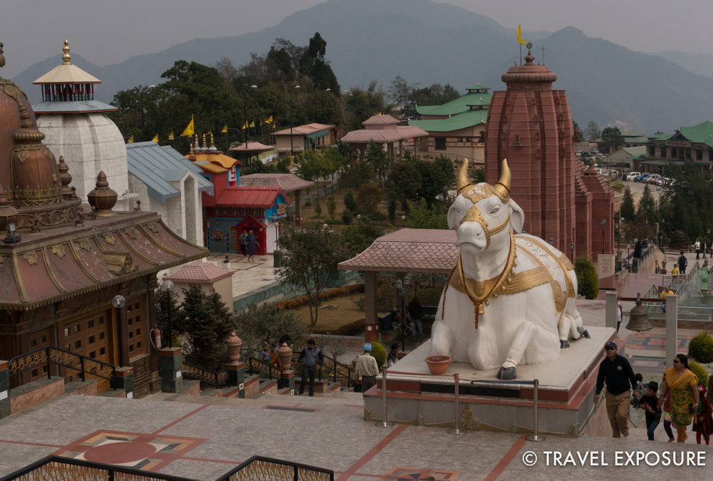 The bull is said to be Lord Shiva's vehicle.