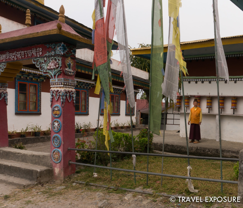 Pemla's father's monastery in Kewzing, Sikkim