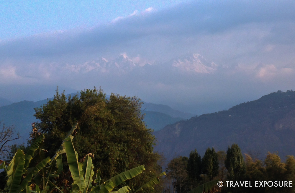 Mount Kangchenjunga eluded us for much of our time in Sikkim, but one morning in Kewzing we saw the mountains peaking through the clouds