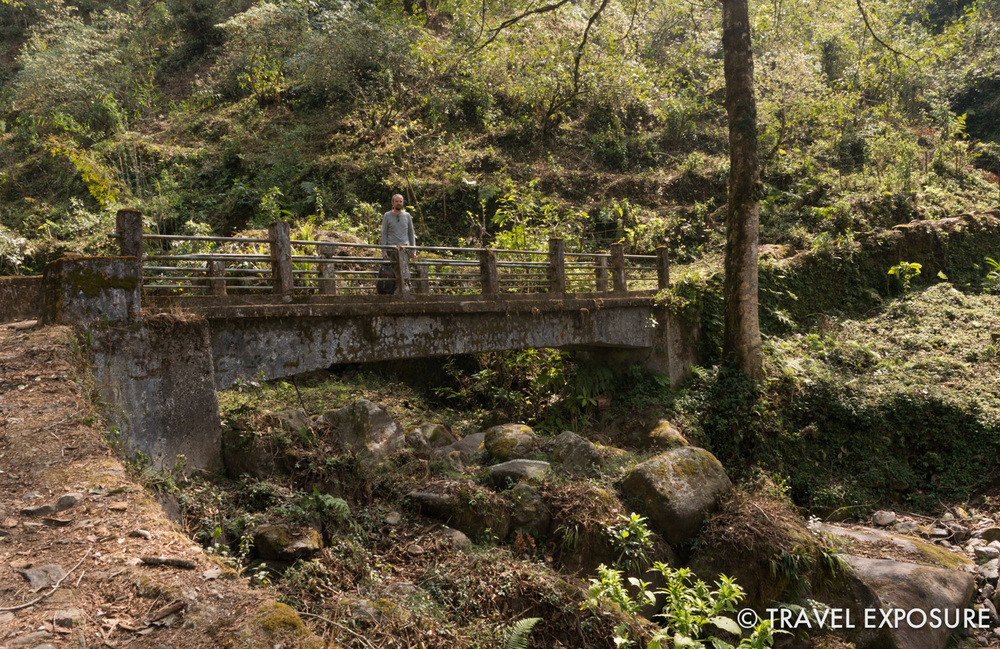 On the path up to Dubdi Monastery i  n Yuksom, Sikkim