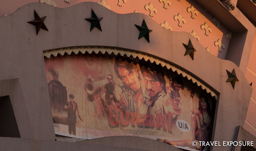 """Bollywood cinema in Jaipur, built in 1976. We saw a film called """"Gunday"""" here."""