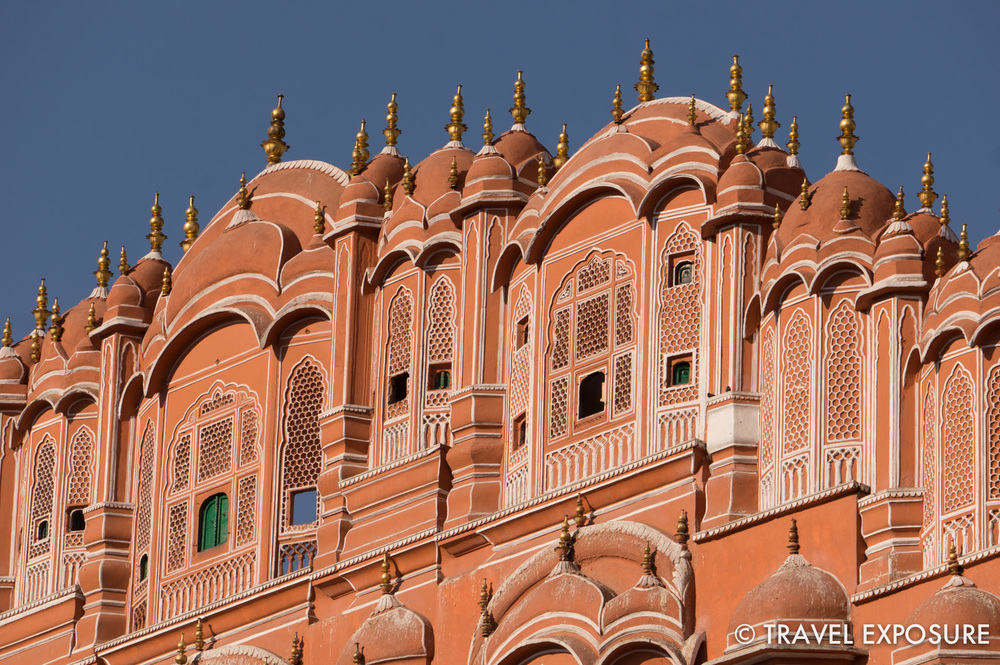 The Hawa Mahal in Jaipur allowed royal ladies to observe everyday life in the street below without being seen
