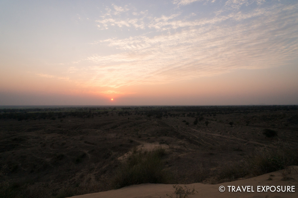 Hiked up the dunes near Tordi Sagar village for a view at sunset