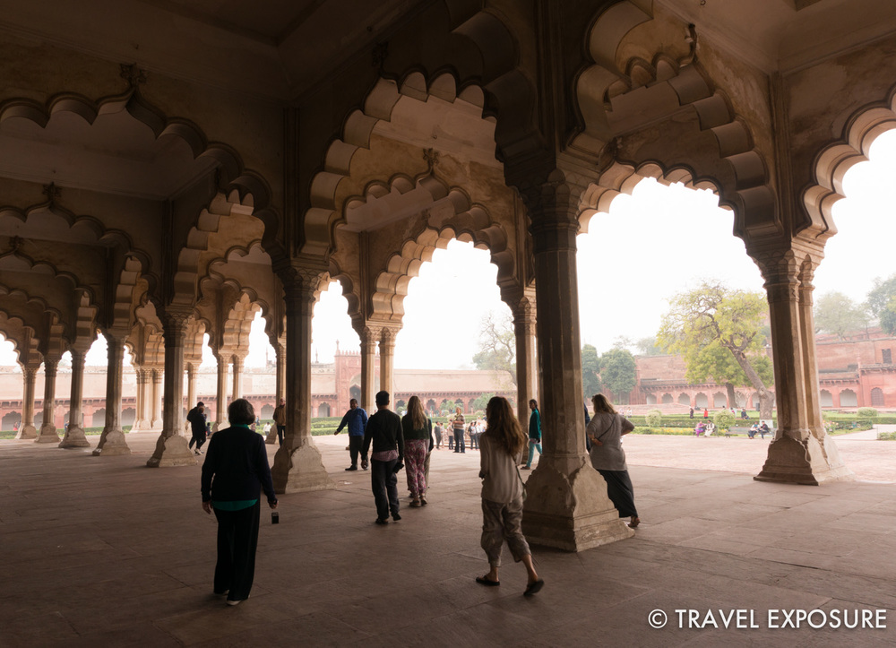 At the Agra Red Fort