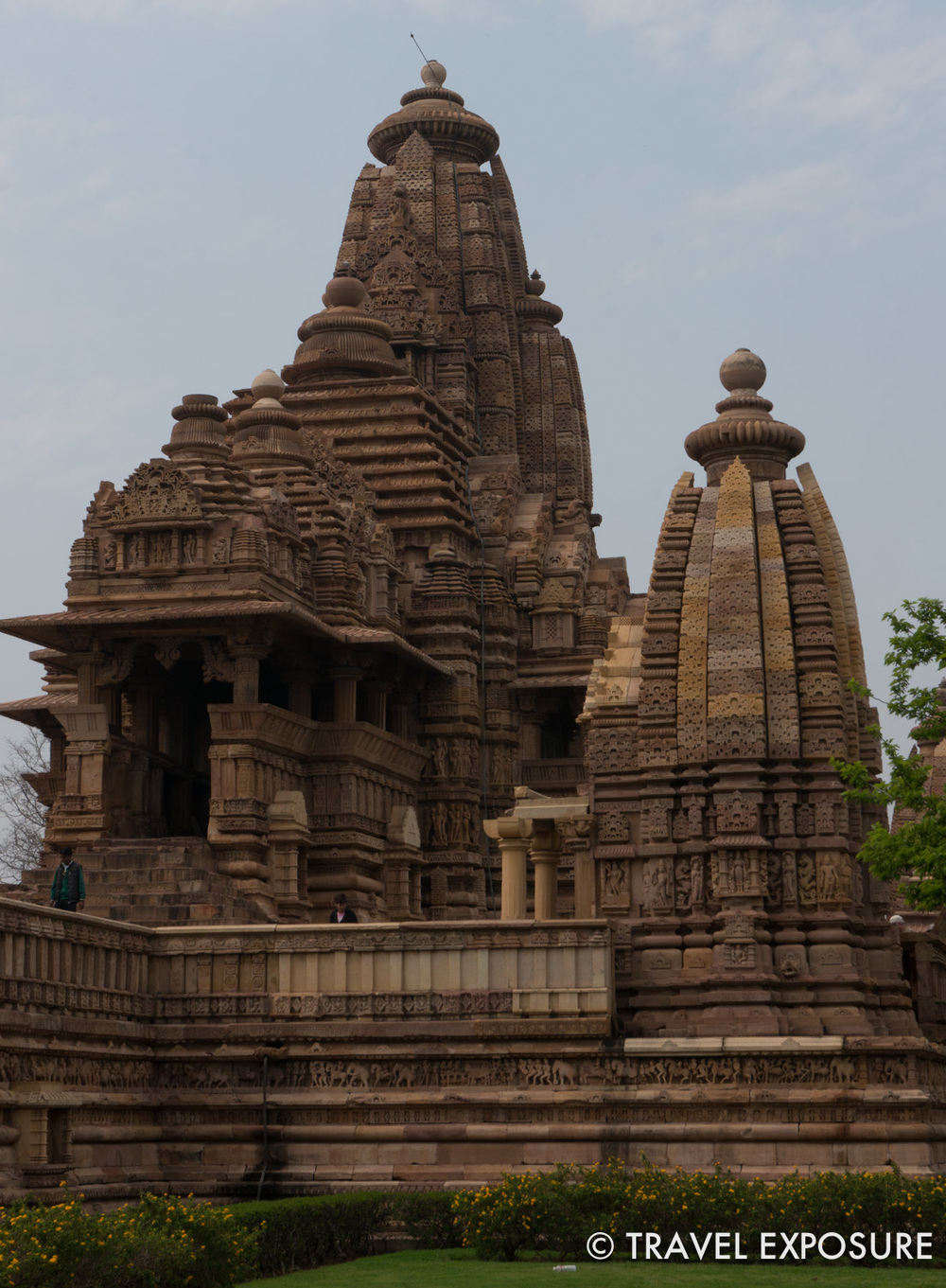 The  Hindu and Jain temples at Khajuraho. Most werebuilt between 950 and 1050. They are beatifullydecorated and famous for their erotic sculptures depicting scenes from the Kama Sutra.