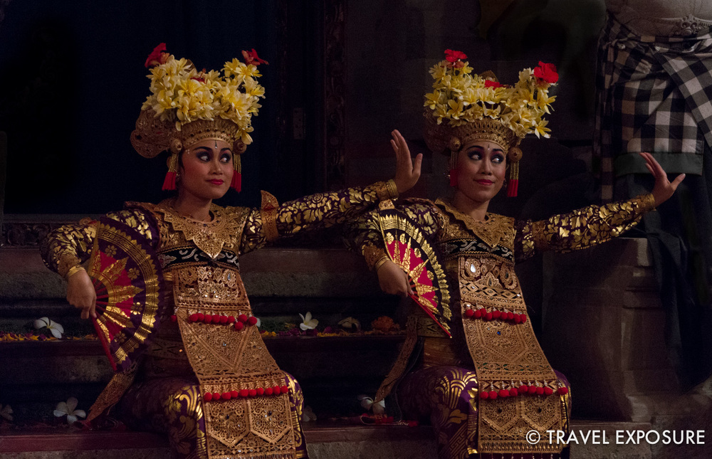 WEEK OF AUGUST 25 Two women perform in a traditional legong & barong dance at Balerung Stage in Peliatan, Indonesia.