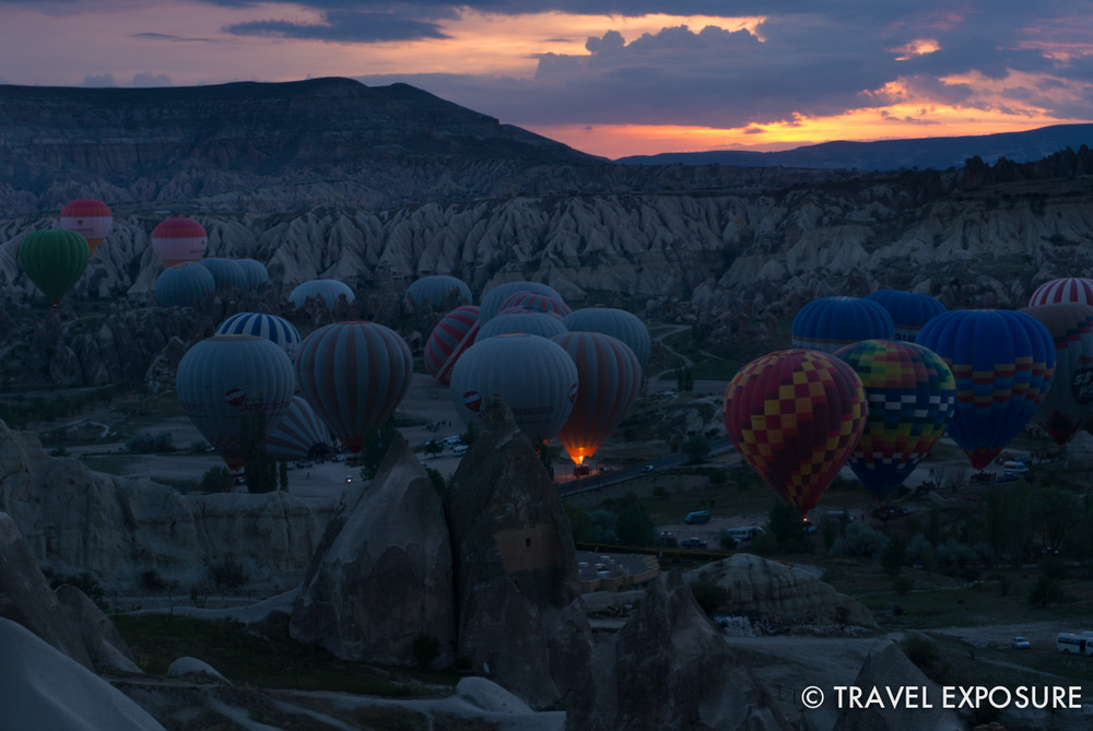 You can hike up the hillside from Goreme to watch the balloons take off in the morning.