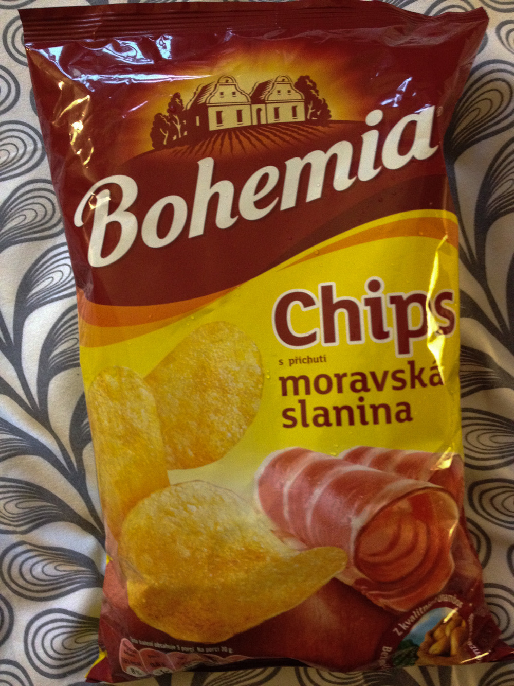 Ham flavored chips from Prague