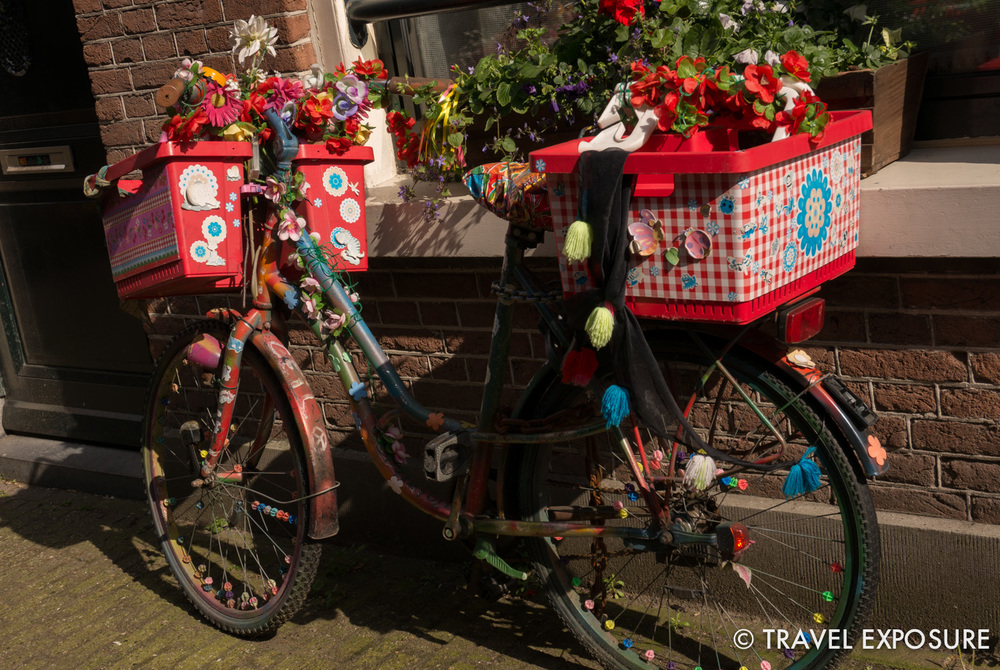 I love this bike - whimsical and charming - just like Amsterdam.