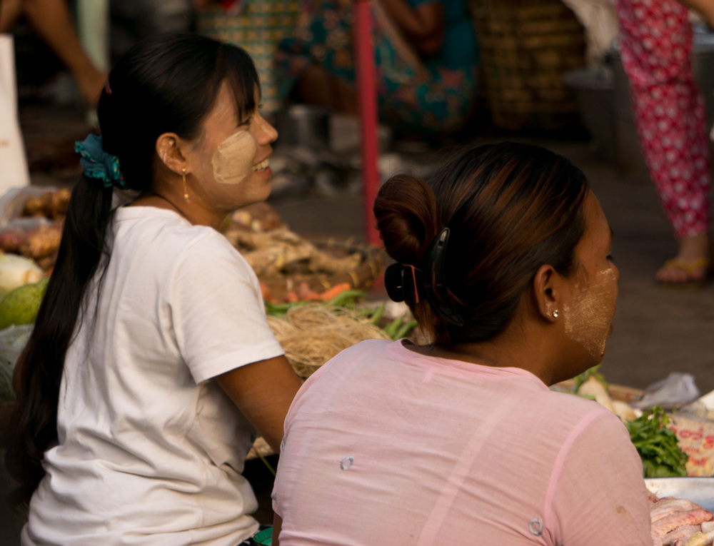 Women in Yangon, Myanmar.