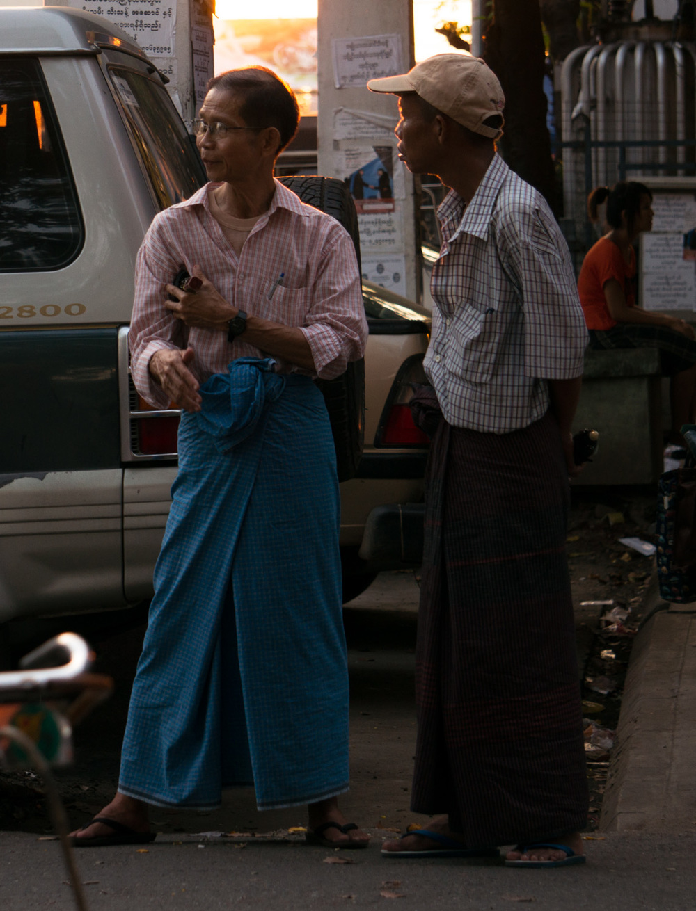 Men in Yangon, Myanmar.