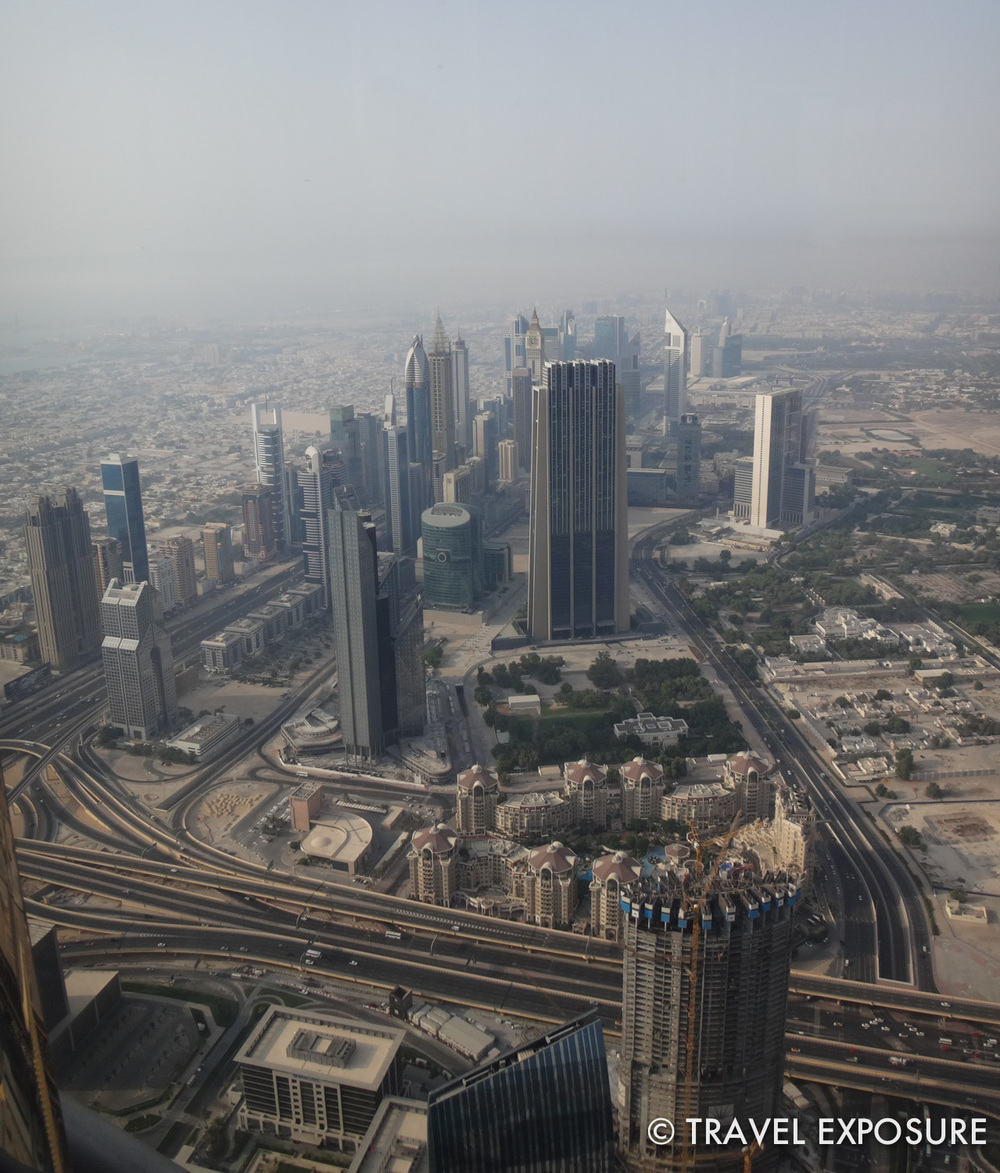 At the top of the Burj Khalifa, the tallest building in the world, in Dubai.