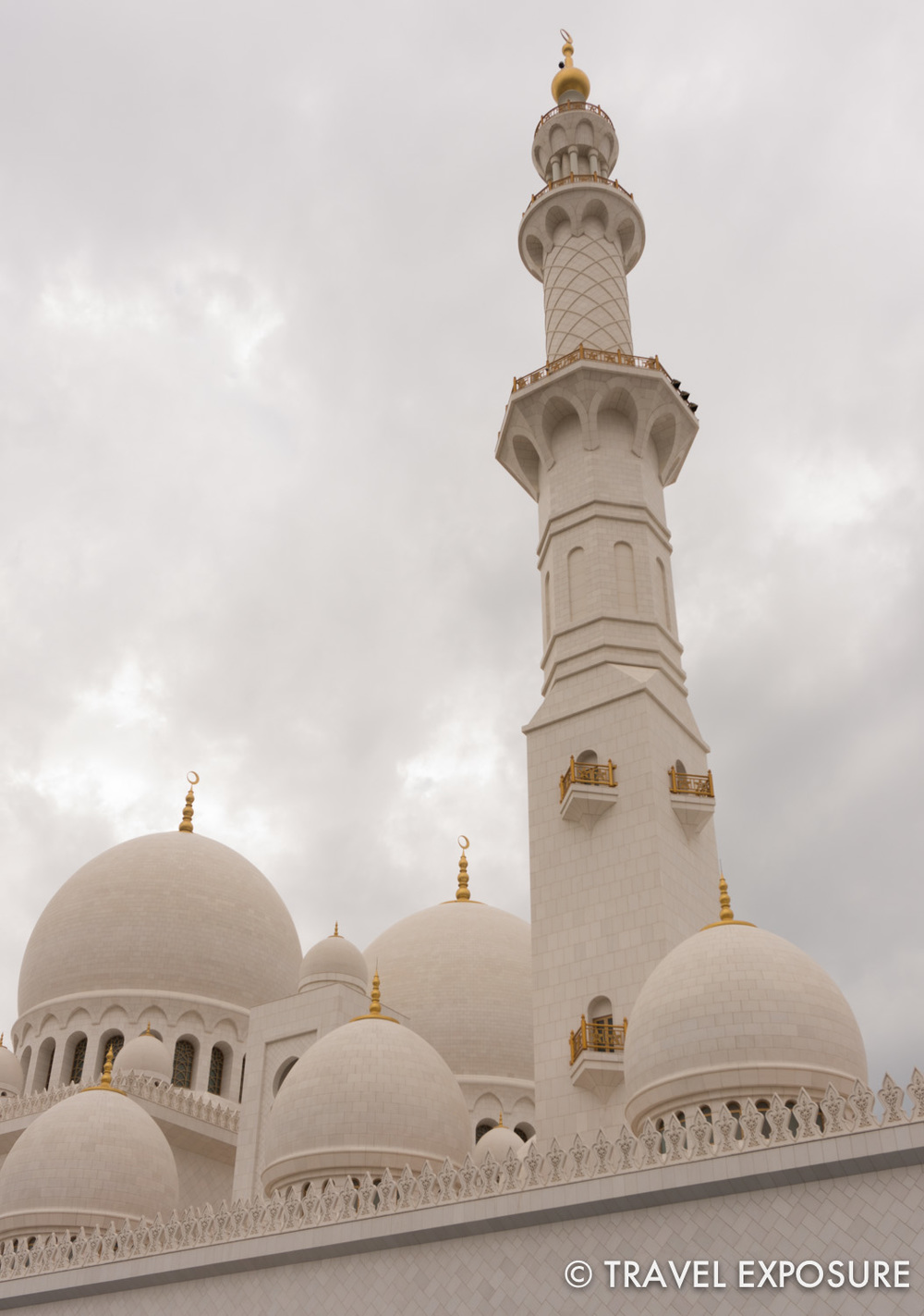 At the Sheikh Zayed Grand Mosque in Abu Dhabi.
