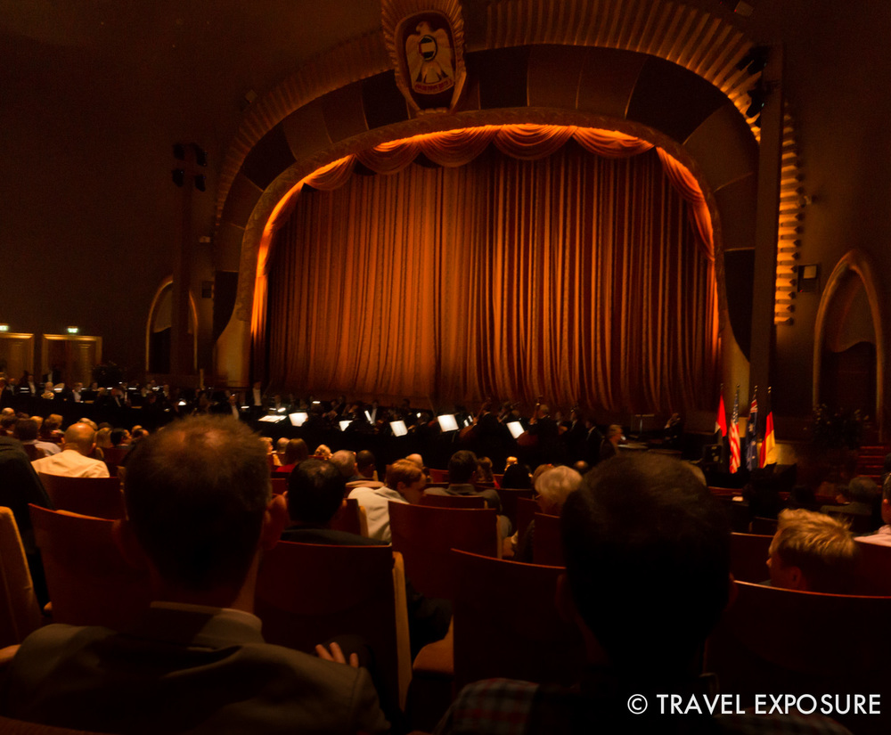 At the ballet in the Emirates Palace in Abu Dhabi.