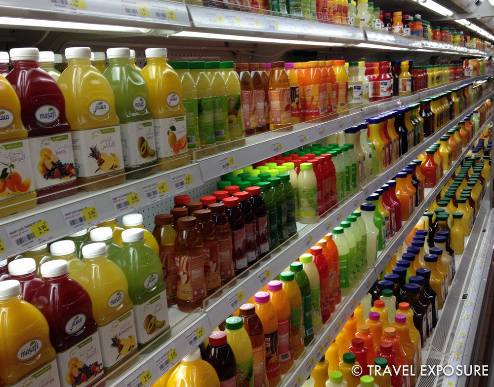 Grocery store in Abu Dhabi... they really like their juice here.