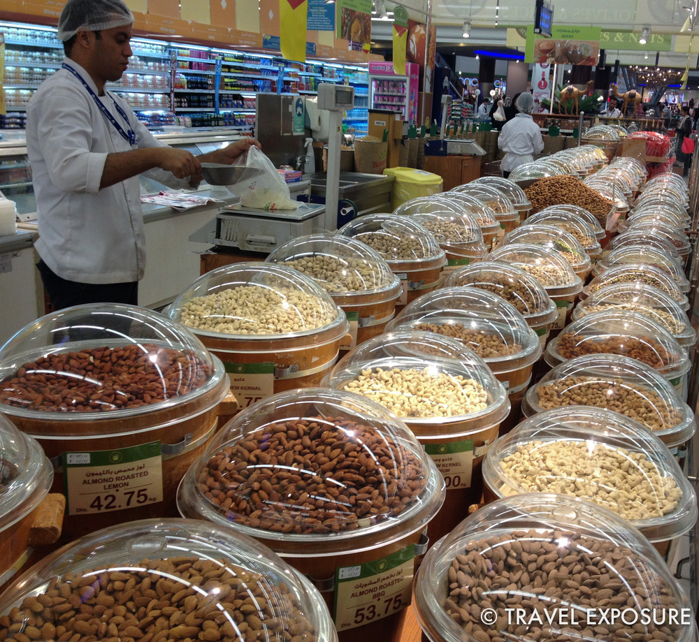 Grocery store in Abu Dhabi... they really like their nuts here.