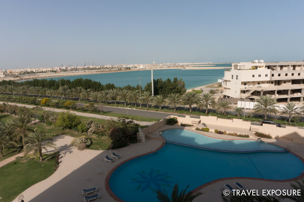 View from Kathy and Brian's apartment balcony in Bahrain. (note the difference in the next photo)