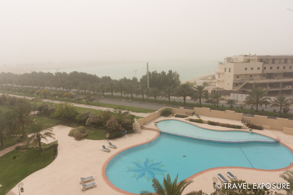 Same view - only in the sand storm!