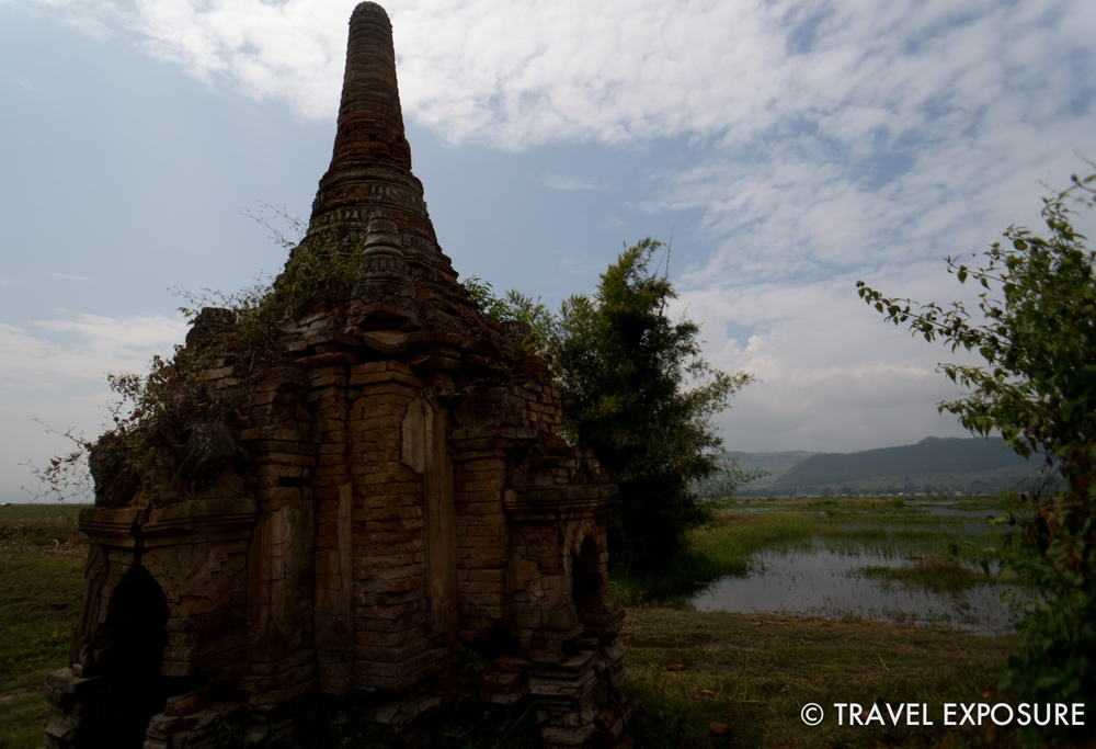 A ruined temple on Inle Lake.