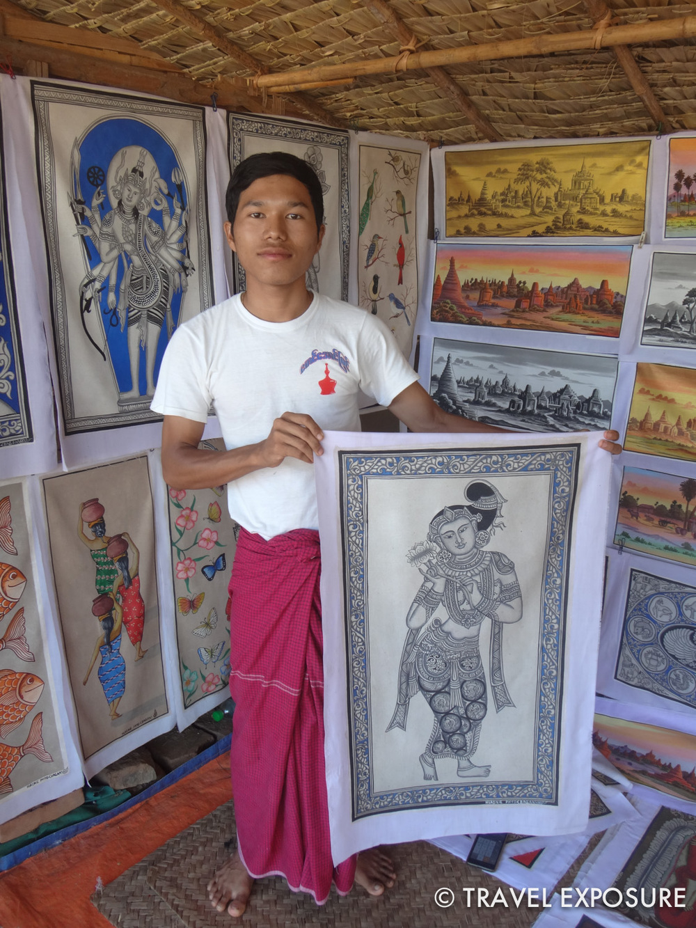 We bought this painting in Bagan