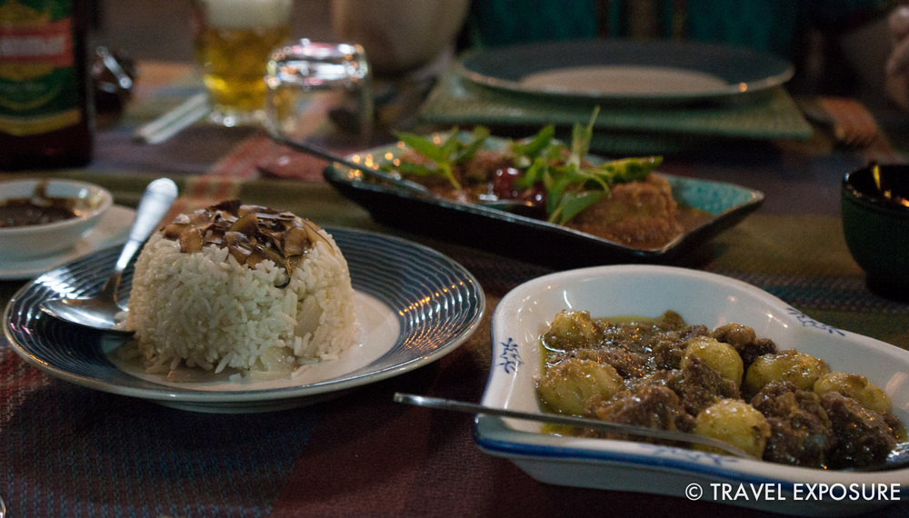 Delicious butter fish and mutton at Green Elephant