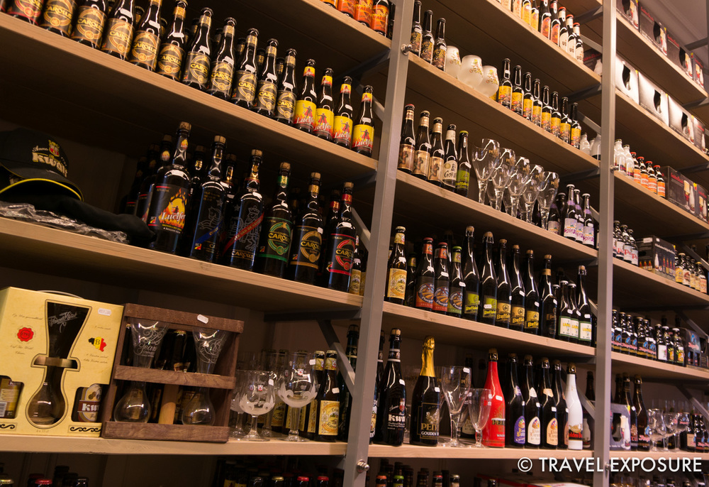 A wall of Belgian beer... I'm a kid in a candy store