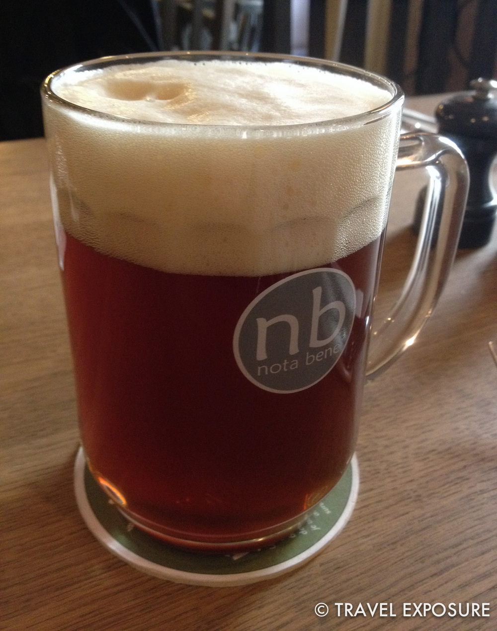 This Nota Bene beer in Prague was different... strawberry/apricot flavor; malty and medium body