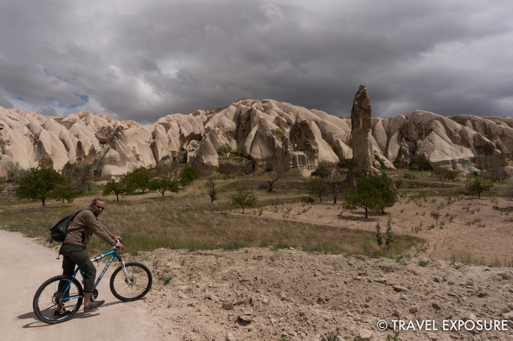 Riding bikes in Cappadocia, Turkey