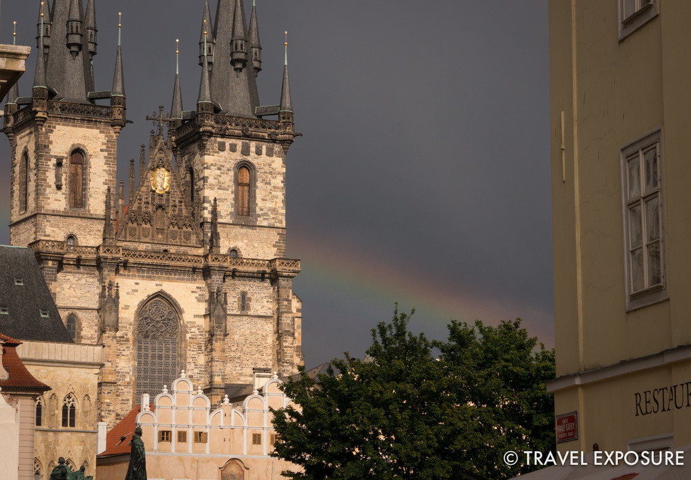 A rainbow in Prague