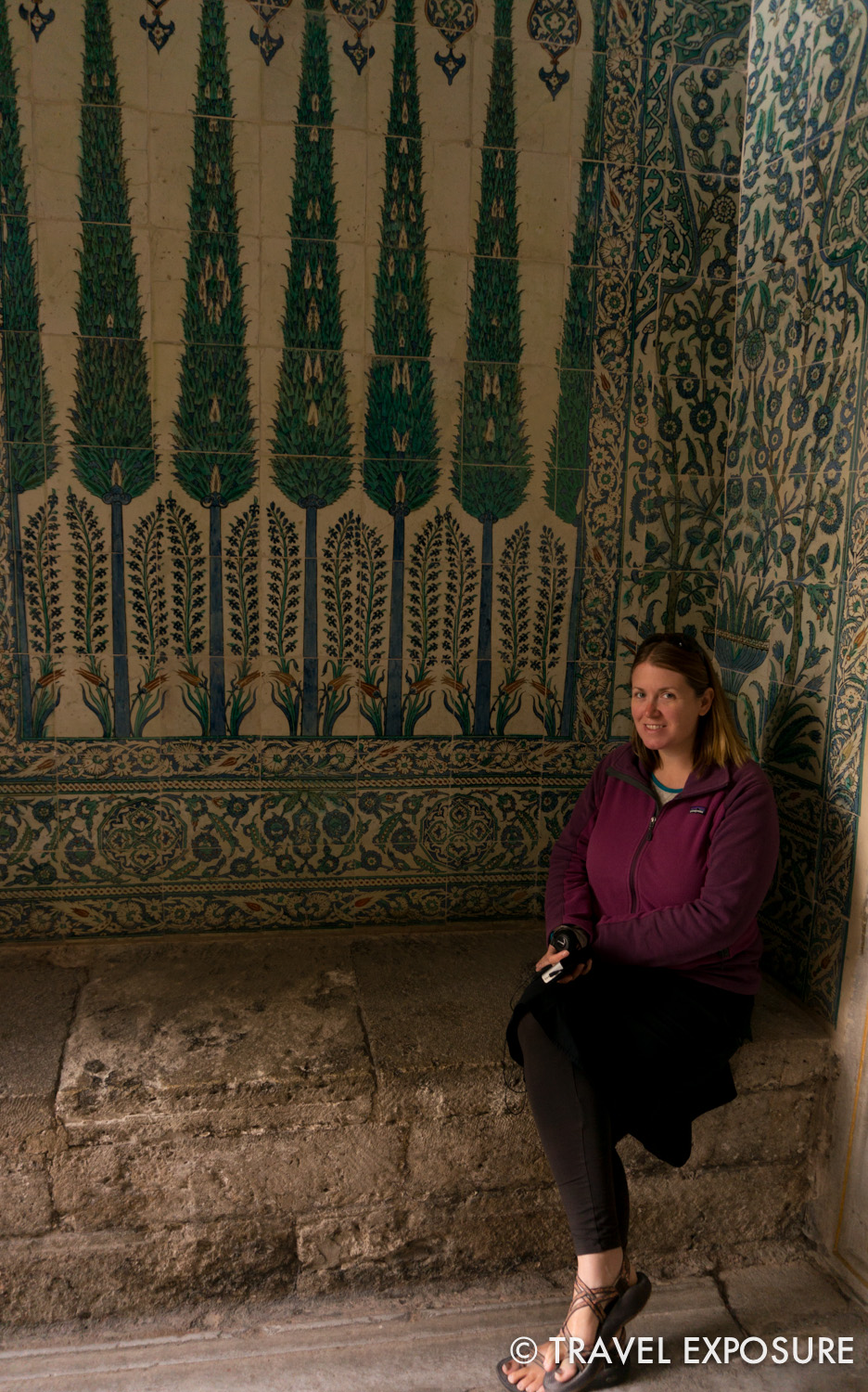 Ornate tile work at Topkapi Palace, Istanbul.
