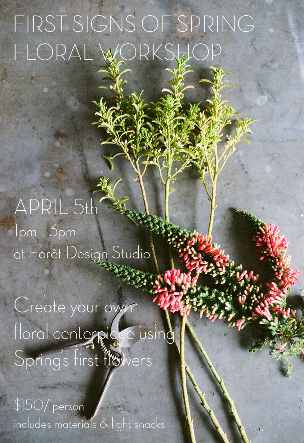Email ladies@foretdesignstudio.com to signup!   photo by white loft studio
