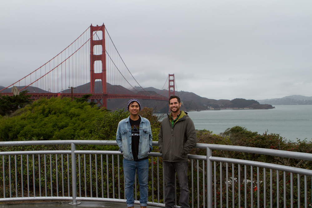 Doing market research in San Francisco. Matt Delarosa (left) and Raul Macias (right). Photo provided by BCR.