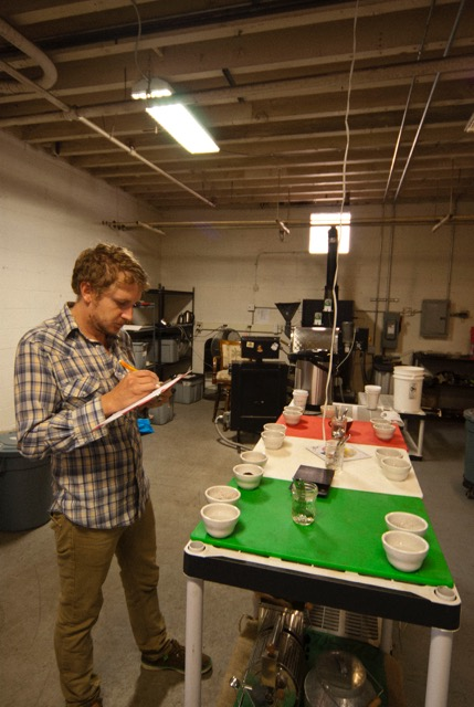 Profile Cupping with  Brian Garhardt. Photo by J.D DiGiovanni.