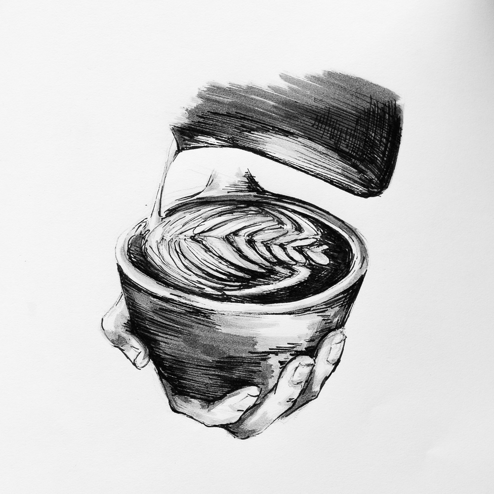 Latte Art, Illustration by Mary Jhun Dandan.