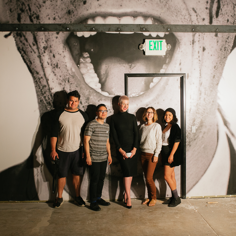 From left to right: Jose Lopez, Pablo Lara, Amanda Süter, Julie Rings and Laura Sanchez.
