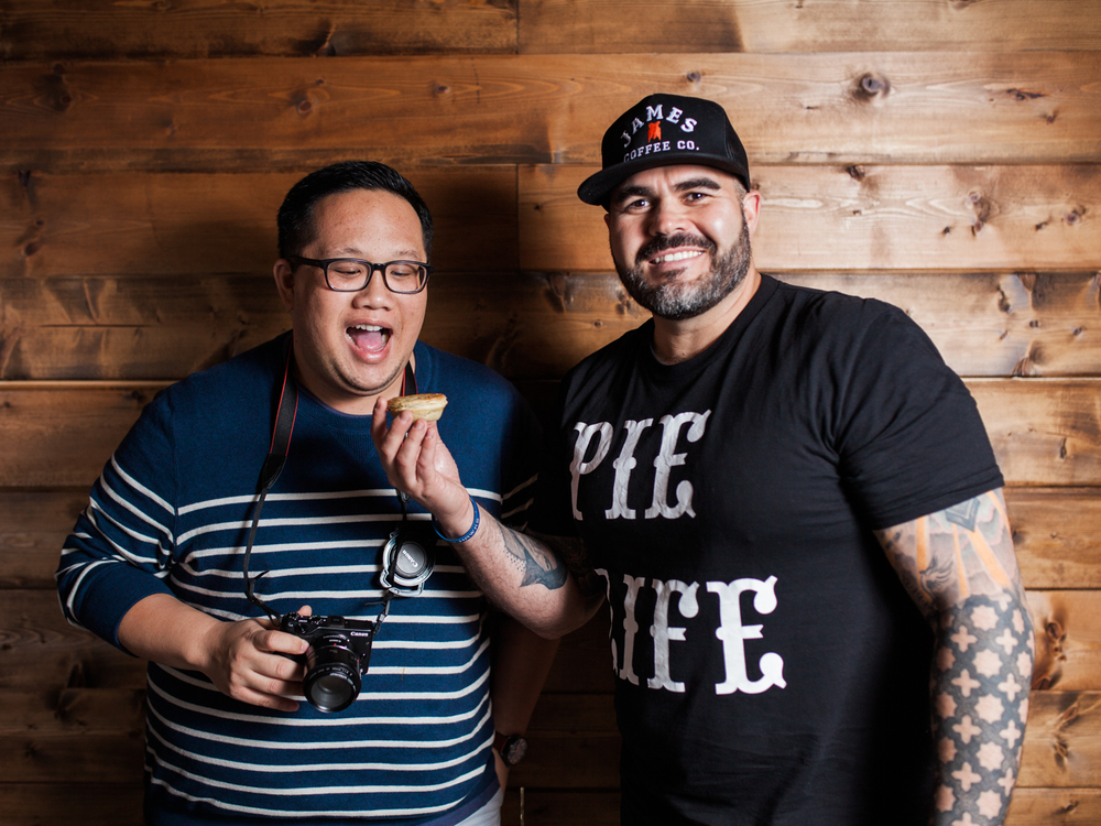 Photos by Julie Rings. Gan Suebsarakham and Steven Torres, Pop Pie Co: The ultimate coffee and pie power couple.