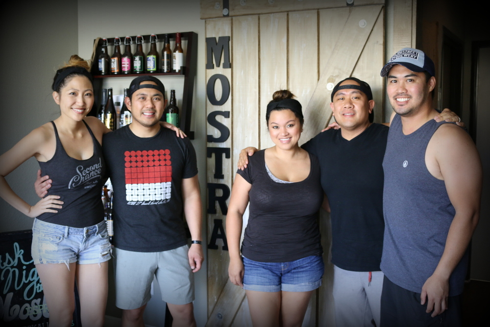 Owners of Mostra Coffee from left to right: Jelynn Malone, Sam Magtanong, Beverly Magtanong, Mike Arquines and RJ Ocubillo. Mostra Coffee is located at 12225 World Rade Drive, San Diego, CA 92128. They're tasting room and cafe is open Wednesdays and Saturdays from 9 a.m. to 2 p.m.
