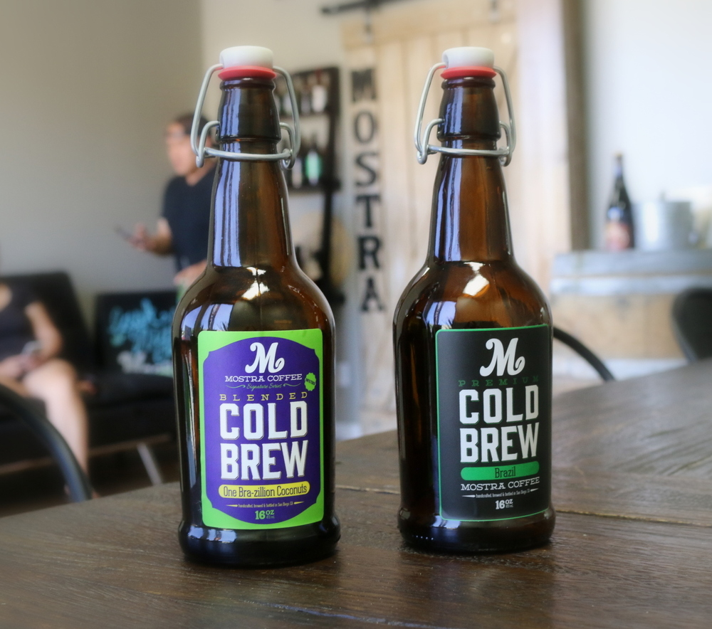 Mostra Coffee won the people's choice award in both the signature and original cold brew categories at the first annual Cold Brew City in June of 2016. One Brazillion Coconuts won in the signature category served with a dusting of chocolate nibs, and their Brazil cold brew won the crowds over in the original category (no additives--just coffee and water).