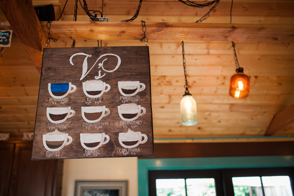 V's Coffee Shoppe at Bernardo Winery in North County inland. Home of Manzanita Roasting Company. Photo by Julie Rings.