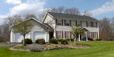 A large, newer Center Hall Colonial in South Vestal.