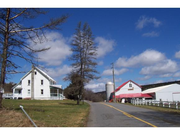 An operating horse farm on over 45 acres with an indoor riding arena.