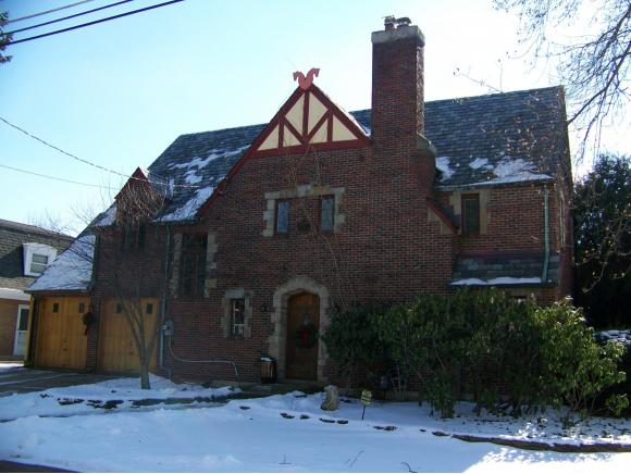 A stately brick Tudor near Riverside Drive