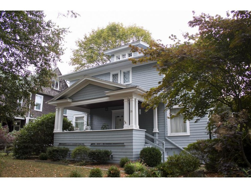 A beautiful historic home on a West Side corner lot.