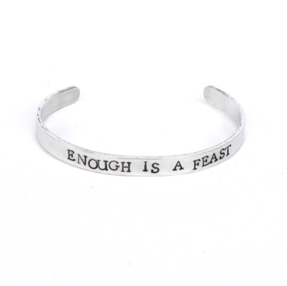 """Grateful for 2017.  A lot of teens suffer in silence because they think there is no one to turn to. Going back to the good old """"it takes a village"""" approach, we want to let the futures know that they are not alone. For every cuff purchased, lily and eve will donate a cuff to GenPsych's Adolescent Program (Bridgewater, NJ). #believeinbold #mentalhealthmatters #metalstampedjewelry #metalstamping #handmadeislove"""