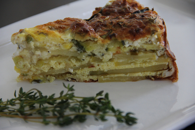 Squash and Potato Fritatta