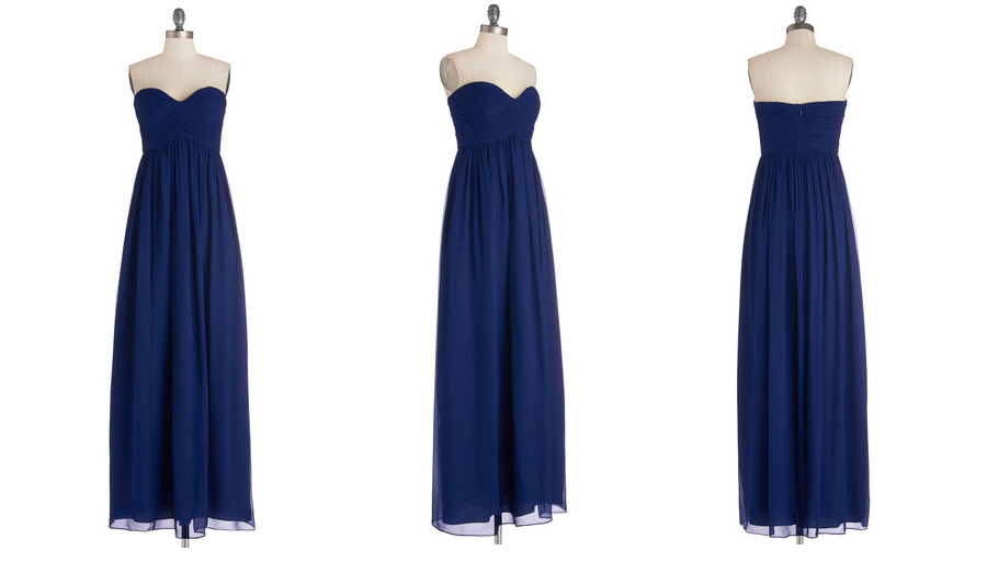 "Images by ModCloth: ""  Gliding Through the Garden Dress in Navy"""