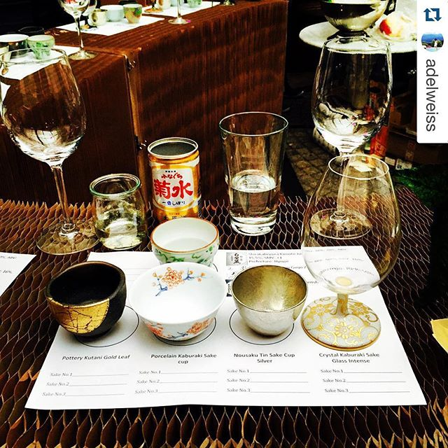 #Repost @adelweiss with @repostapp. ・・・ Sake tasting X sakeware @thehoxtonhotel @hoxcupsakebar Fill me up I'm ready to go!