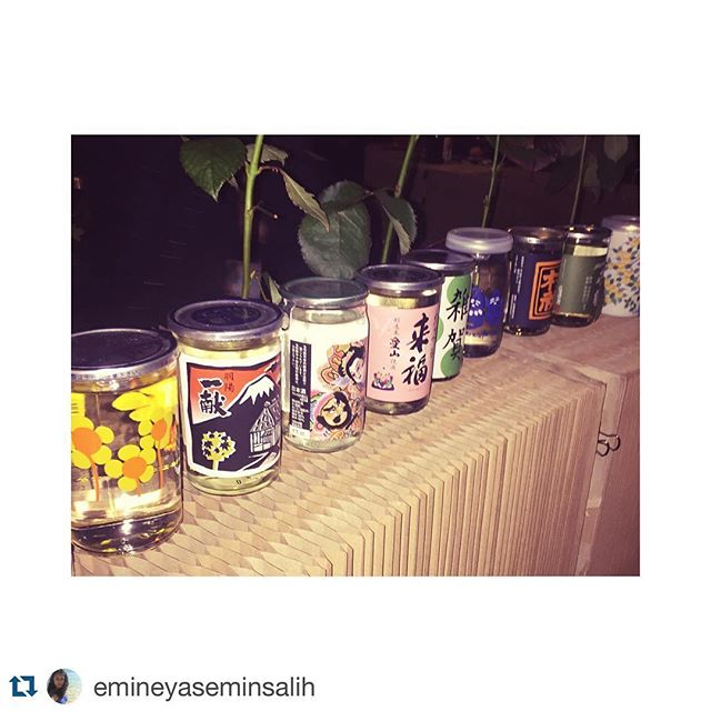 #Repost @emineyaseminsalih with @repostapp. ・・・ Traditional on a Tuesday! #hoxcupsakebar #sake ♥️🇯🇵
