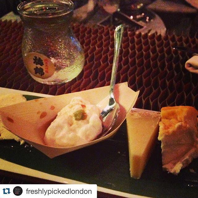 @lafromagerieuk cheese with Kiko Ito & #Gekkeikan #sake tasting  @freshlypickedlondon with @repostapp.
